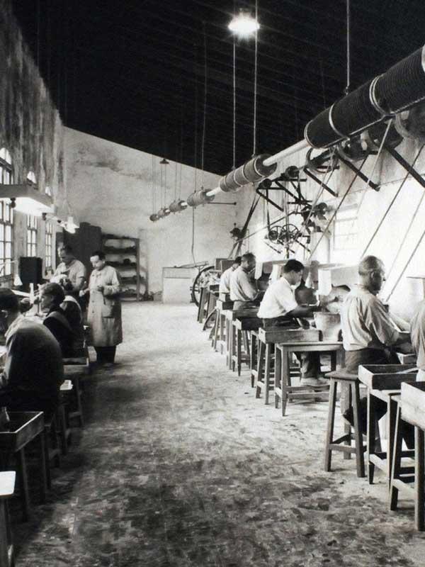 Vista del interior de una fábrica de Majorica